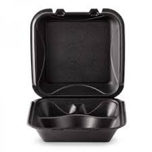 Black Hinged Carry-Out