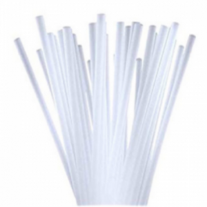 """7.75"""" Clear Unwrapped Straws"""